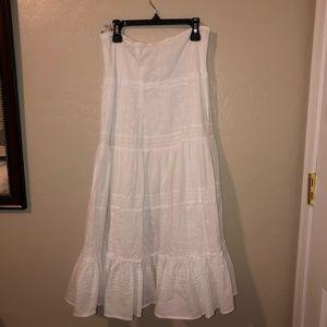 Pretty white flower skirt